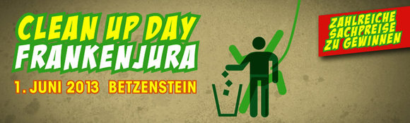 3. Clean Up Day Frankenjura am 01.06.2013 in Betzenstein