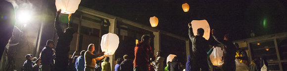 Melloblocco 2013 - Day One: Chinese lanterns fill the sky