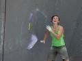 Juliane Wurm of Germany during the Womens semi finals of the IFSC Boulder Worldcup held in Munich, Germany.