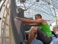 Jonas Baumann during the Mens semi finals of the IFSC Boulder Worldcup held in Munich, Germany.