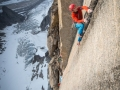 Leo Houlding in der Mirror Wall (c) Berghaus, Matt Pycroft, Coldhouse Collective