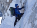 Mick Fowler on day three of his climb of Gave Ding (c) Berghaus