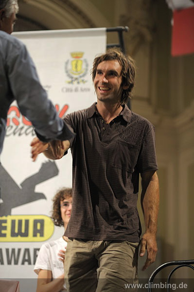 Chris Sharma and Kilian Fischhuber the legends of Arco 2009