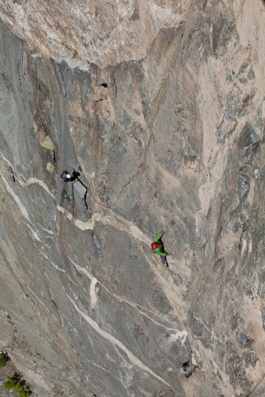 First free ascent of Hallucinogen Wall by Hansjörg Auer