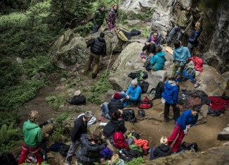 "18 Top-Kletterinnen beim ersten AustriAlpin ""Girls Rock Day"""