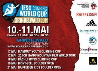 First solo Boulder World Cup 2014 in Grindelwald