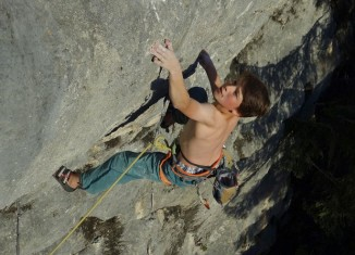 """Happy Bizeps to you"" (8b+) für Philipp Gaßner"