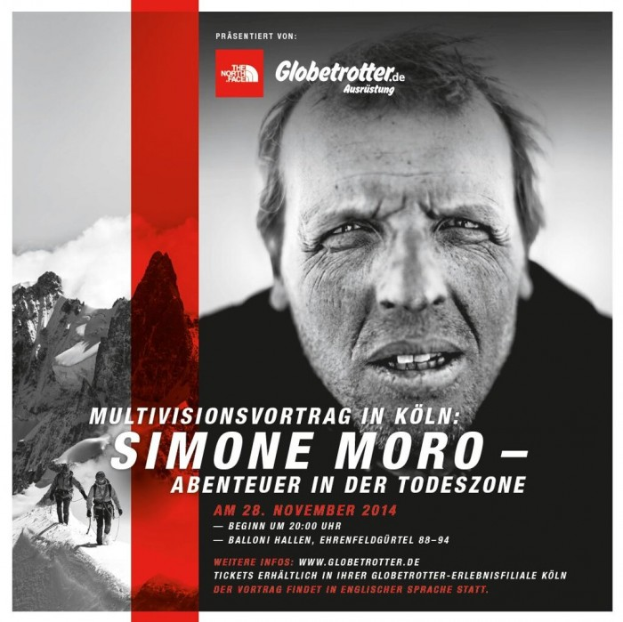 Multivisionsvortrag von Simone Moro am 28. November 2014 in Köln