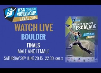 [VIDEO] IFSC Climbing World Cup Laval 2014 - Boulder - Finals - Men/Women