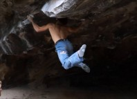 "Alexander Megos in ""Double Demerit"" (V14) (c) Exileded"