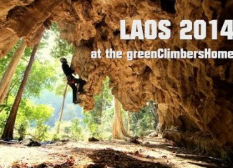 Laos Climbing at the GreenClimbersHome 2014