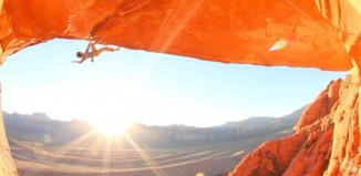 """Sonnie Trotter in """"The Great Red Roof"""" (5.13b) (c) Sonnie Trotter"""