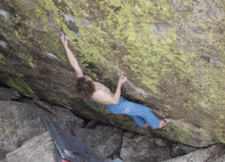 "Adam Ondra gelingt ""Jade"" (FB 8B+) im Flash (c) The Island"