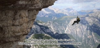 "Dave MacLeod in ""Project Fear"" (8c) an der Westliche Zinne (c) Mountain Equipment"