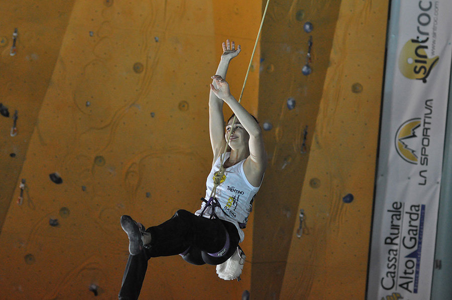 Hélène Janicot at the Rock Master 2015 (c) Giulio Malfer / Planetmountain.com