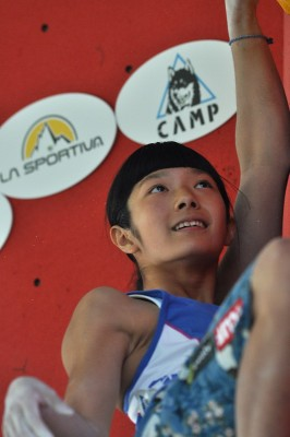 IFSC World Youth Championships 2015 in Arco: Ashima Shiraishi (c) Giulio Malfer / planetmountain.com