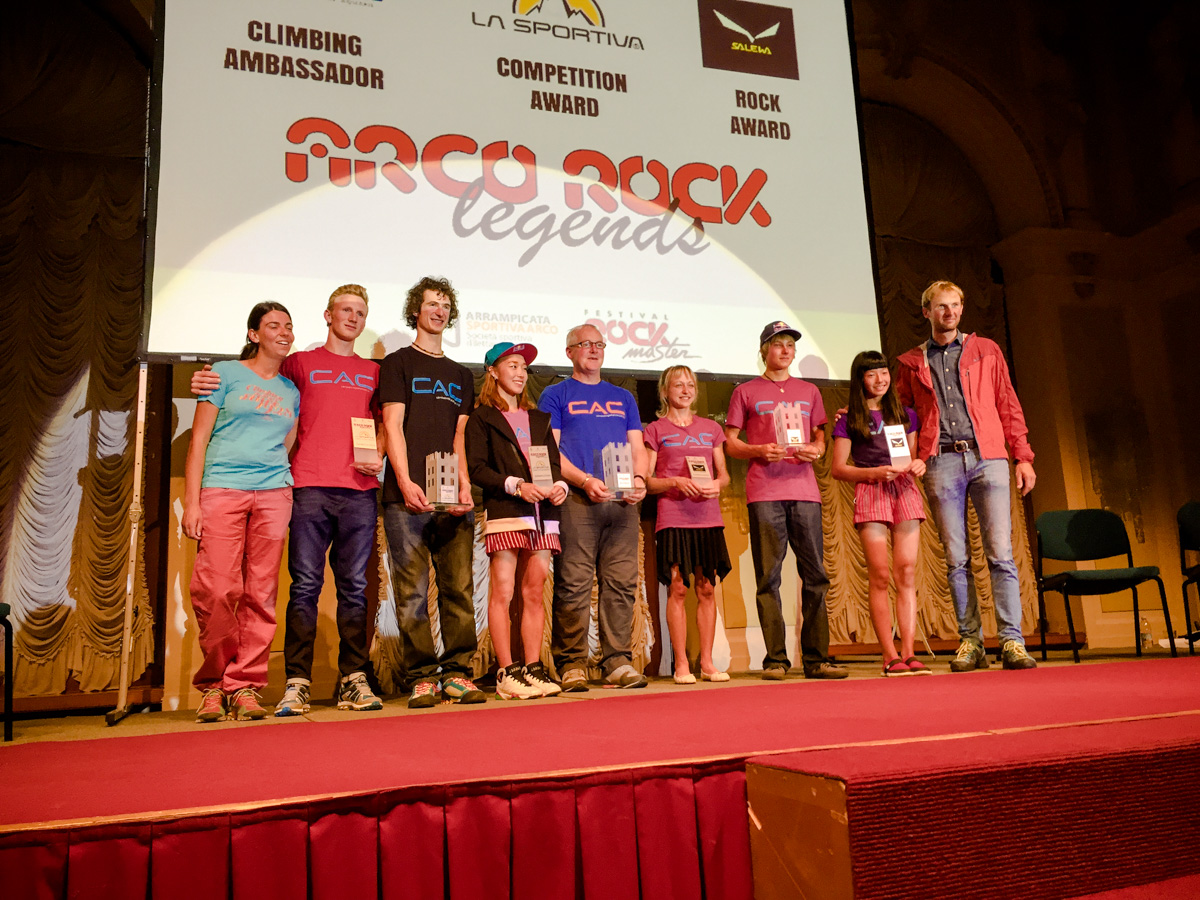 Arco Rock Legends 2015 winners (c) Nicola Tremolada / planetmountain.com