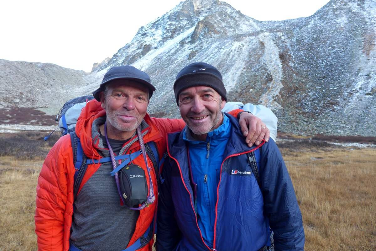 Mick Fowler (left) and Paul Ramsden during their Gave Ding expedition (c) Berghaus