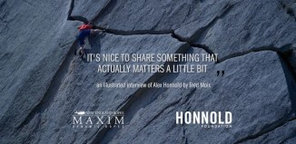 "Alex Honnold: ""It's nice to share something that actually matters a little bit..."" (c) Fred Moix"