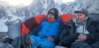 David Lama und Conrad Anker: High Spirits am Lunag Ri in Nepal (c) Martin Hanslmayr, Red Bull Content Pool