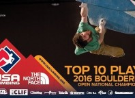 2016 Bouldering US Open National Championship - Top Ten Moments (c) USA Climbing