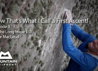 "Dave MacLeod on ""The Long Hope"" (E11, 7a) (c) Hot Aches Productions"