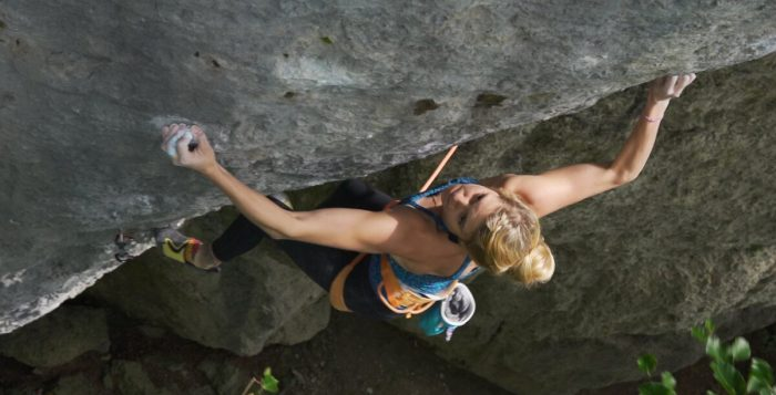 Lena Herrmann in 'Battle Cat' (8c+) (c) prAna