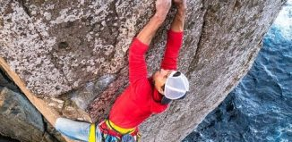 Sonnie Trotter's First Free Ascent of Ewbank Route on Tasmania's Totem Pole (c) Five Ten
