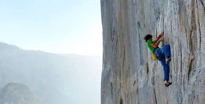 Adam Ondra in der 'Dawn Wall' (Push #1) (c) Pavel Blazek
