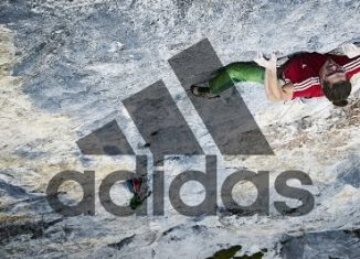 Alex Luger redpointing 'The Gift' (8c) in the Rätikon (c) adidas Outdoor