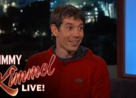 Alex Honnold talks to Jimmy Kimmel on Free Soloing El Capitan (c) Jimmy Kimmel Live