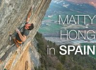 Matty Hong climbing in Spain (c) Petzl Sport