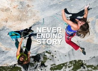 Barbara Zangerl and Nina Caprez on 'Neverending Story' (8b+) (c) Alpsolut Moving Pictures