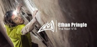 Ethan Pringle on 'The Nest' (V15) (c) Mad Rock