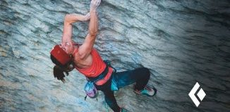 Babsi Zangerl sending 'Speed Intégrale' (9a) (c) Black Diamond Equipment