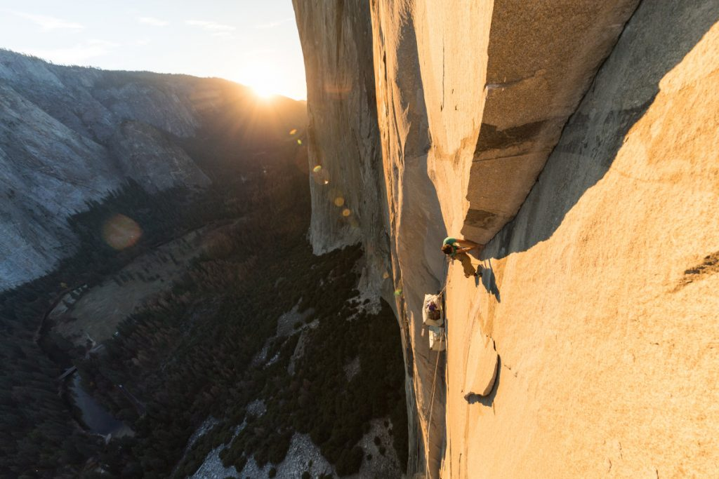 Jacopo Larcher in der Route 'Zodiac' am El Capitan (c) Jon Glassberg, Louder than 11