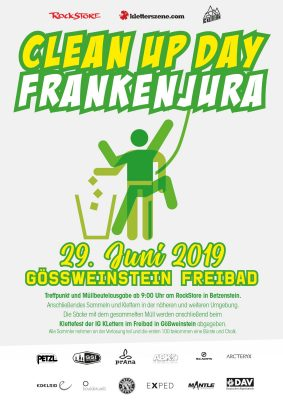 Clean Up Day Frankenjura am 29. Juni 2019 (c) Kletterszene.com