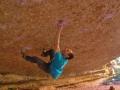 Nacho Sánchez klettert Crisis (8C/+) in Crevillente, Spanien (c) Rebeca Morillo