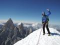 Christina on top of Cerro Torre (c) Caro North