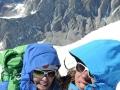 Christina and Caro on top of Cerro Torre (c) Caro North