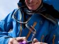 Kletterer an der Dru, Ehrengast und Aussteller in St. Anton: Andy Parkin, Alpinist und Künstler (c) servustv