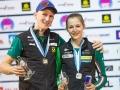 Jakob Schubert und Jessica Pilz beim Leadweltcup 2015 in Kranj (c) ÖWK/Heiko Wilhelm