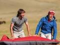 Stephan Siegrist und Giovanni Quirici während des Mammut Teamtrips in Kirgistan, 2009 (Foto: Mammut/Rainer Eder)