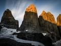 Torres del Paine in morning light (c) Franz Walter