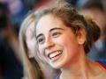 Johanna Holfeld beim Deutschen Leadcup 2016 in München (c) DAV / Marco Kost