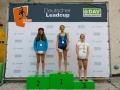 Siegerpodest Damen beim Deutschen Leadcup 2016 in München (c) DAV / Marco Kost