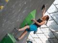 Lili Kiesgen beim Boulderweltcup 2016 in München (c) DAV/Marco Kost