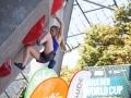 Shauna Coxsey beim Boulderweltcup 2016 in München (c) DAV/Marco Kost