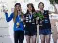 Podium Damen beim Boulderweltcup 2016 in München (c) DAV/Marco Kost