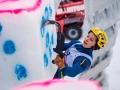Angelika Rainer beim Eiskletterweltcup 2017 in Rabenstein (c) Patrick Schwienbacher